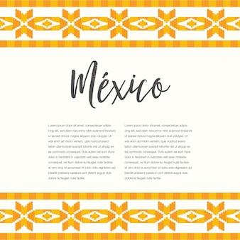 Estilo de bordado mexicano - plantilla