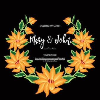 Estilo de bordado de oaxaca, mexico - invitación de boda floral