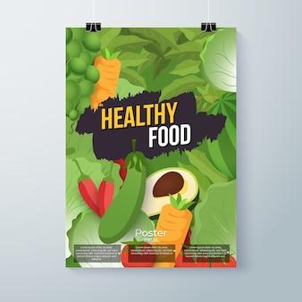 Estilo de cartel de comida saludable