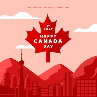 Estilo de celebración del día de canadá