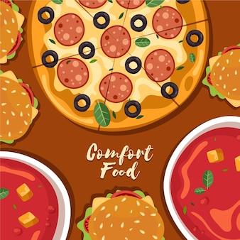 Estilo de colección de comida reconfortante