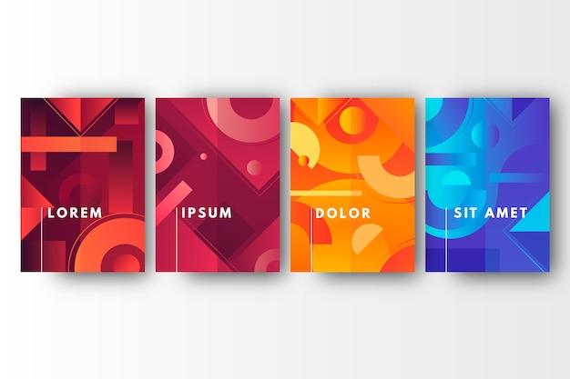 Estilo de colección de portadas geométricas