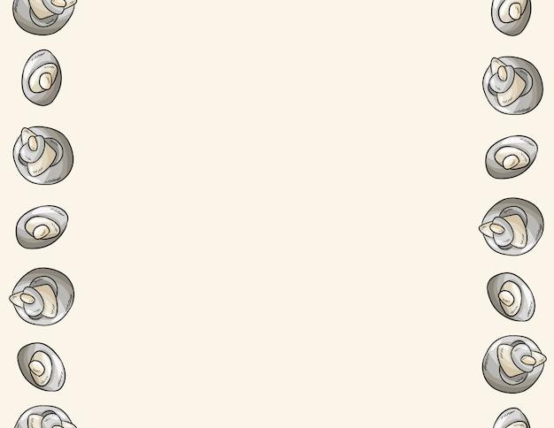 Estilo cómico de piedras de guijarros de mar para plantilla de carta