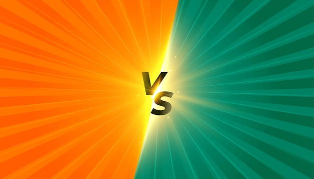 Estilo cómico versus banner vs con raya de rayos