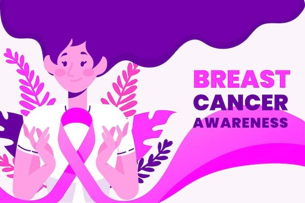 Estilo de concepto de concienciación sobre el cáncer