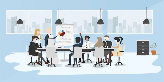 Estilo de dibujo de ilustración de la colección de gente de negocios