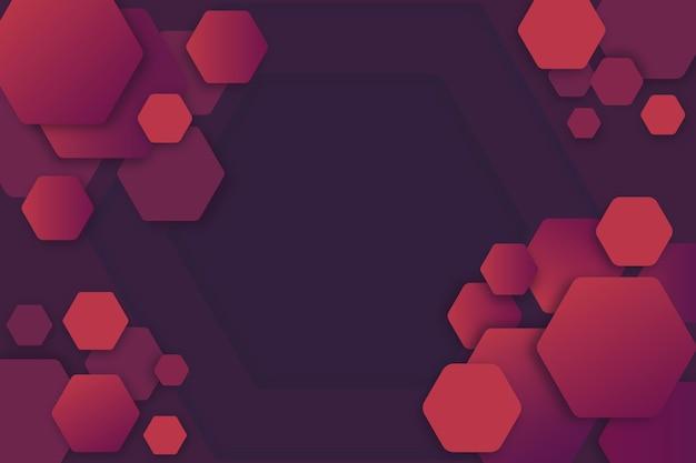 Estilo degradado de fondo hexagonal