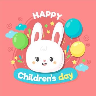 Estilo dibujado a mano del día mundial del niño.