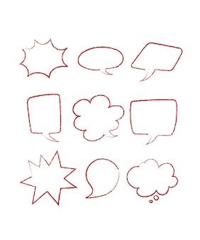 Estilo dibujado a mano para el diseño conceptual. doodle ilustración plantilla para decoracion
