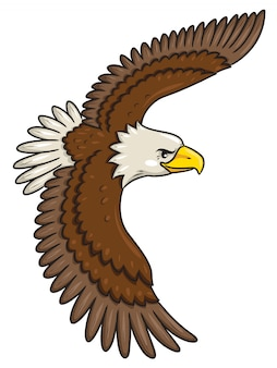 Estilo de dibujos animados de águila