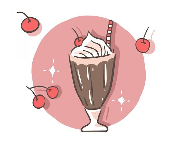 Estilo de dibujos animados doodle de chocolate.