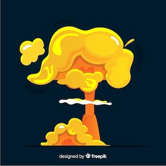 Estilo de dibujos animados de efecto de explosión nuclear