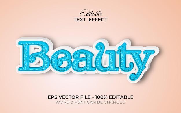 Estilo de efecto de texto de belleza efecto de texto editable tema femenino