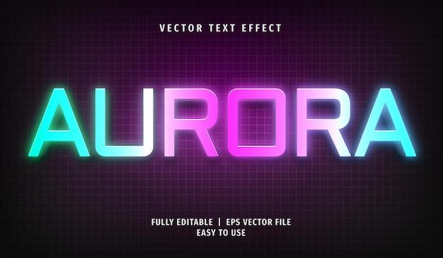 Estilo de efecto de texto editable aurora