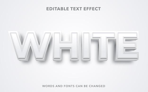 Estilo de efecto de texto editable blanco