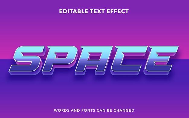 Estilo de efecto de texto editable de espacio