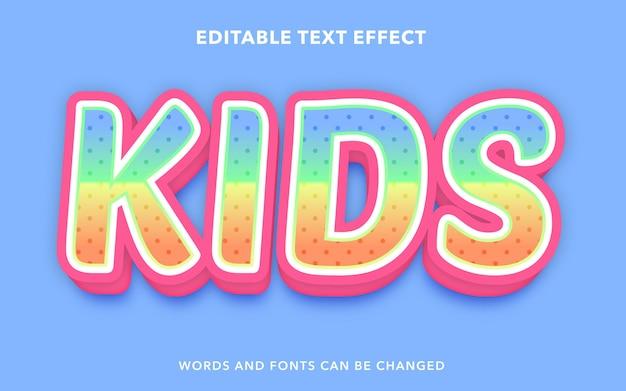 Estilo de efecto de texto editable para niños