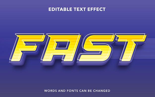 Estilo de efecto de texto editable rápido