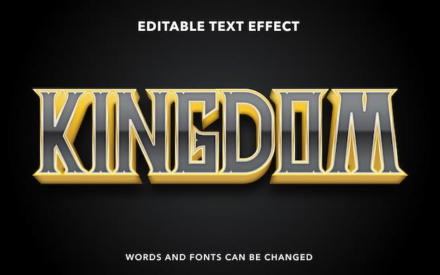 Estilo de efecto de texto editable del reino