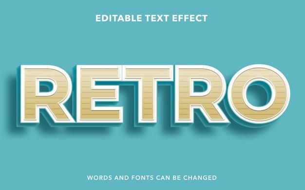 Estilo de efecto de texto editable retro