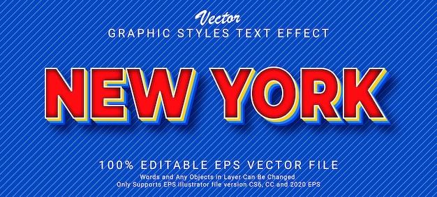 Estilo de efecto de texto futurista de nueva york