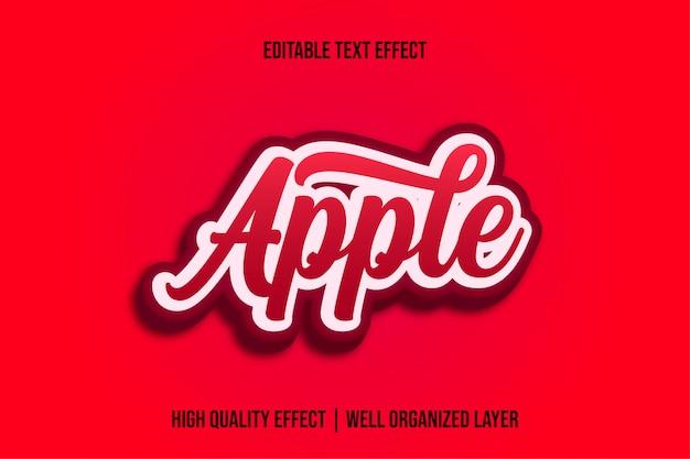 Estilo de efecto de texto de manzana roja