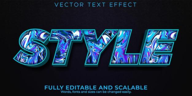 Estilo de efecto de texto moderno, deporte editable y estilo de texto de lujo