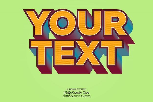 Estilo de efecto de texto realista en 3d