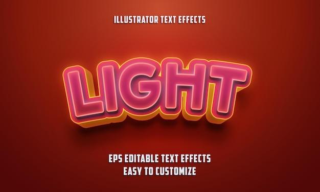 Estilo de efectos de texto editable