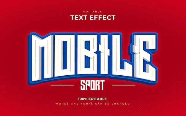 Estilo de efectos de texto editables de juegos móviles