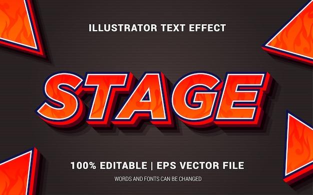 Estilo de efectos de texto de etapa