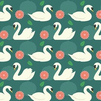 Estilo elegante del patrón de cisne
