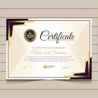 Estilo elegante para plantilla de certificado