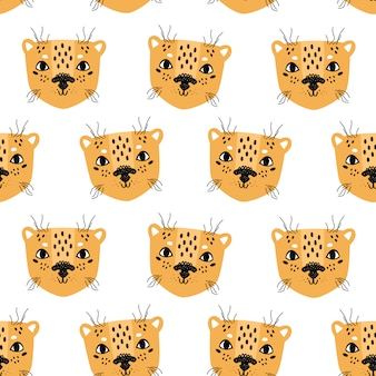 Estilo escandinavo de patrones sin fisuras de leopardo