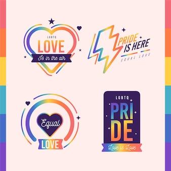Estilo de etiquetas del día del orgullo
