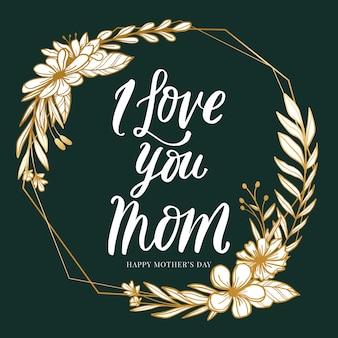 Estilo floral del día de la madre