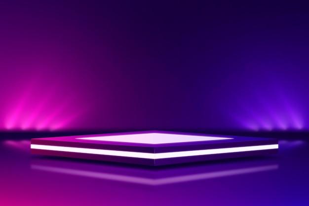 Estilo de fondo abstracto luces de neón