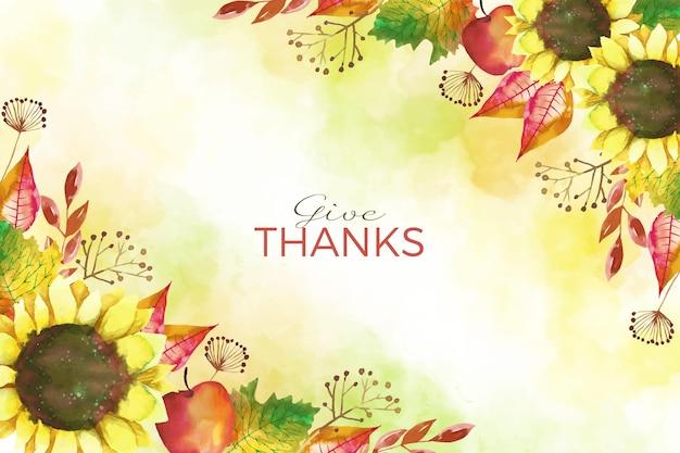 Estilo de fondo del día de acción de gracias