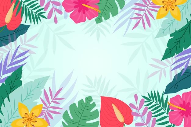 Estilo de fondo de hojas tropicales