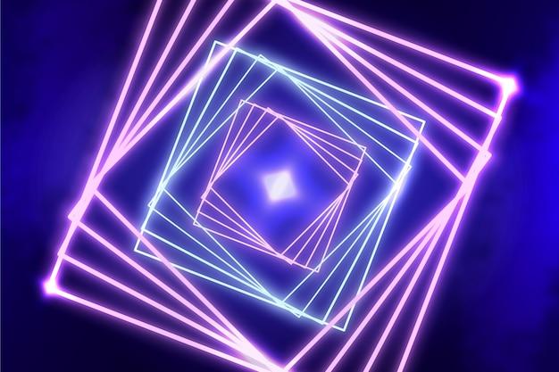 Estilo de fondo de luces de neón