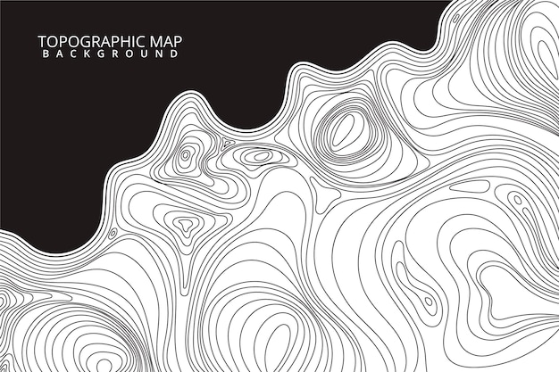 Estilo de fondo del mapa topográfico