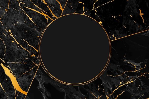 Estilo de fondo de mármol negro y dorado