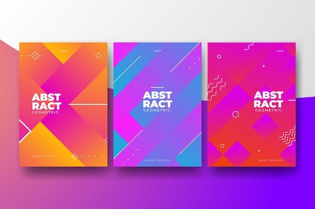 Estilo geométrico abstracto para la colección de portadas