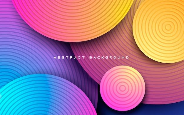 Estilo hipster de fondo colorido abstracto. capas superpuestas con forma de círculo.