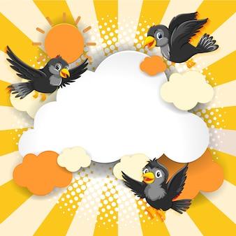 Estilo de historieta cómica de fantasía pájaro