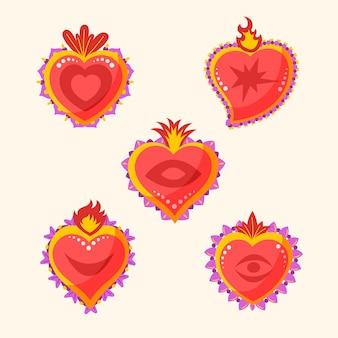 Estilo de ilustración de corazón sagrado