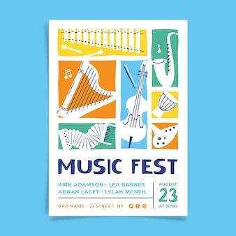 Estilo ilustrado de póster de música