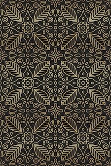 Estilo indio y árabe de patrones sin fisuras con adornos de flores y hojas