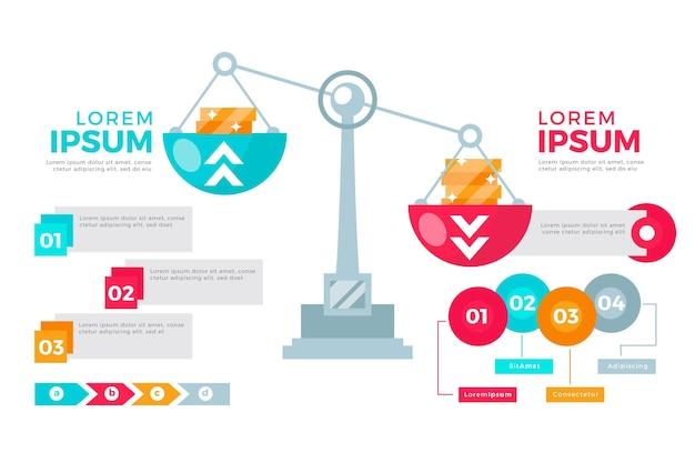 Estilo de infografías de equilibrio