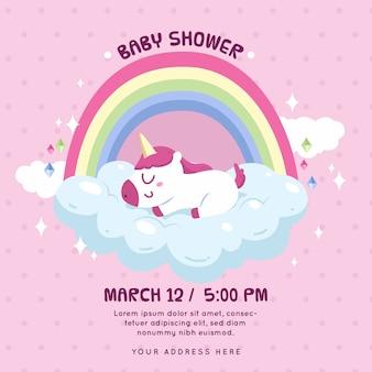 Estilo de invitación para baby shower de niña